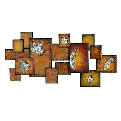 SEI Leaves/Abstract Wall Art Panel