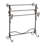 "SEI 35 1/4"" x 31 1/2"" x 16"" Metal Scroll Blanket Rack, Black with Bronze"
