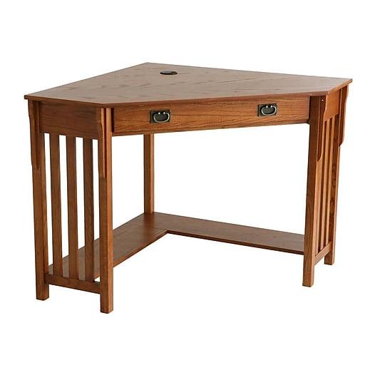 Sei Wood Corner Computer Desk Mission Oak