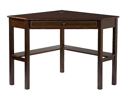 SEI Corner Computer Desk, Espresso (HO6644)
