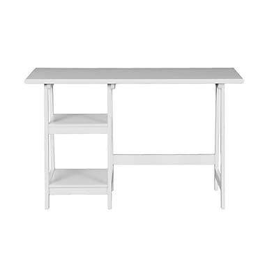 SEI Langston 47'' Rectangular Wood/Veneer Contemporary Computer Desk, White (HO9146)