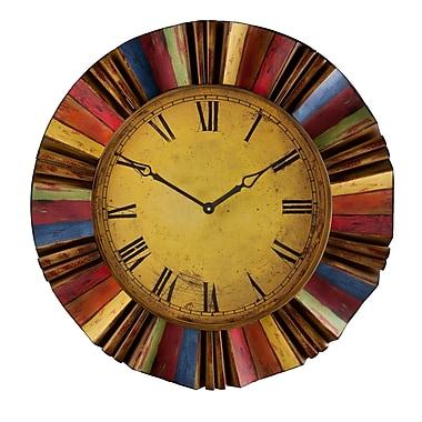 SEI WS1963 MDF/Metal Analog Wall Clock, Multi-Color
