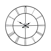 SEI WS1964R Metal Analog Centurian Decorative Wall Clock, Black
