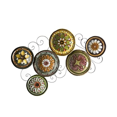 SEI Scattered Italian Plates Wall Art