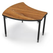 Balt Black Legs/Edgeband Small Shapes Desk Without Book Box, Nepal Teak
