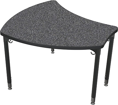 Balt Black Legs/Edgeband Small Shapes Desk Without Book Box, Graphite Nebula