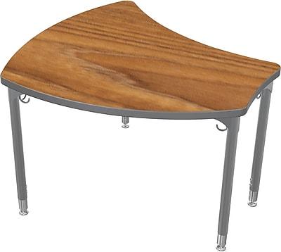 Balt Platinum Legs/Edgeband Small Shapes Desk Without Book Box, Nepal Teak