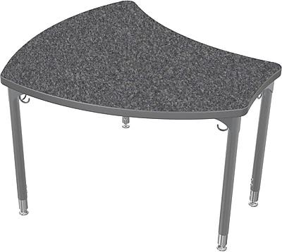 Balt Platinum Legs/Edgeband Small Shapes Desk Without Book Box, Graphite Nebula