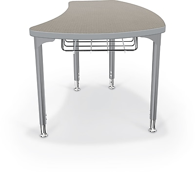 Balt Large Shapes 36'' Student Desk with Book Box, Pewter Mesh (112252-4878)
