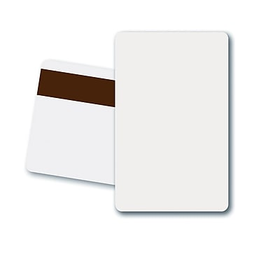 Fargo 81751 Magnetic Stripe Card, White, 500/Pack