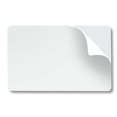 Fargo Mylar CR80.10 Adhesive Back PVC Cards For Fargo Persona C30 Single-Side, White