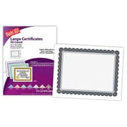 "Blanks/USA® 11"" x 8 1/2"" 60 lbs. Offset Large Certificate With Black/Silver Border, White, 50/Pack"