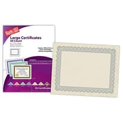 "Blanks/USA® 11"" x 8 1/2"" 60 lbs. Astroparch Large Certificate With Silver Border, Natural, 50/Pack"