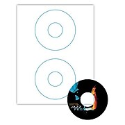 "Blanks/USA® 4 1/2"" x 4 1/2"" 120 lbs. Matte CD Label, White, 200/Pack"