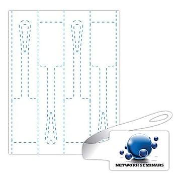 Blanks/USA 9 3/8  x 2  Digital Luggage Tags, White, 200/Pack