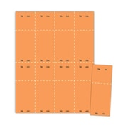 "Blanks/USA® 2 1/8"" x 5 1/2"" Numbered 01-400 Digital Cover Raffle Ticket, Orange, 400/Pack"