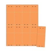 "Blanks/USA® 2 1/8"" x 5 1/2"" Numbered 01-1000 Digital Cover Raffle Ticket, Orange, 1000/Pack"