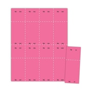 "Blanks/USA® 2 1/8"" x 5 1/2"" Numbered 01-1000 Digital Cover Raffle Ticket, Pink, 1000/Pack"