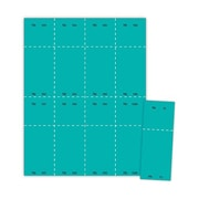 "Blanks/USA® 2 1/8"" x 5 1/2"" Numbered 01-1000 Digital Cover Raffle Ticket, Teal, 1000/Pack"