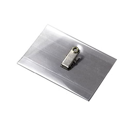 Blanks/USA NBH1SA Name Tag Holders, Clear, 100/Pack