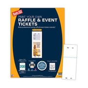 "Blanks/USA® 2 1/8"" x 5 1/2"" Numbered 01-200 Digital Cover Raffle Ticket, White"