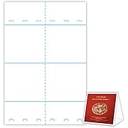 """Blanks/USA® 6"""" x 3 3/8"""" x 5 5/8"""" 80 lbs. Digital Gloss Cover Table Tent, White, 500/Pack"""