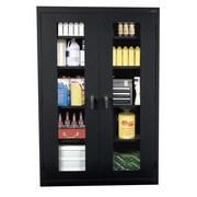 "Sandusky® See Thru 36"" x 24"" x 78"" Clearview Storage Cabinet, Black"