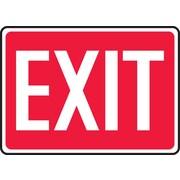 Accuform Signs® - Panneau de sécurité « EXIT » (blanc/rouge), 7 po x 10 po