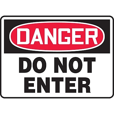Accuform Signs® - Panneau de sécurité « DANGER DO NOT ENTER », 7 po x 10 po