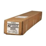"""Canon 255gsm Premium RC Photomatte Paper, Luster, 42""""(W) x 100'(L), 1/Roll"""