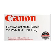 "Canon 230gsm Heavyweight Coated Paper, Matte, 24""(W) x 100'(L), 1/Roll"