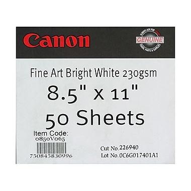 Canon 230gsm Fine Art Bright Paper, Matte White, 8 1/2
