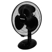 "Impress IM-713 12"" Oscillating Table Fan, Black"
