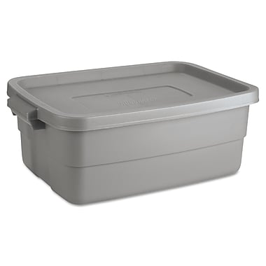 Pacon® 10 gal Roughneck Storage Box, Steel Grey