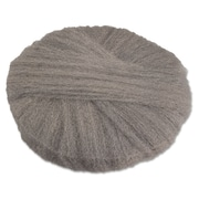 "Global Material 17"" #2 Radial Steel Wool Floor Pad, Gray"