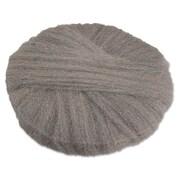 """Global Material 20"""" #2 Radial Steel Wool Floor Pad, Gray"""