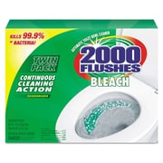 2000 Flushes® Blue Plus Bleach, 1.25oz, 2/Pack, 6 Packs/Carton, Neutral Scent