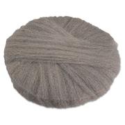 """Global Material 18"""" #2 Radial Steel Wool Floor Pad, Gray"""