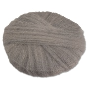 "Global Material 17"" #0 Radial Steel Wool Floor Pad, Gray"