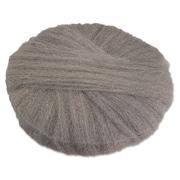 """Global Material 17"""" #1 Radial Steel Wool Floor Pad, Gray"""