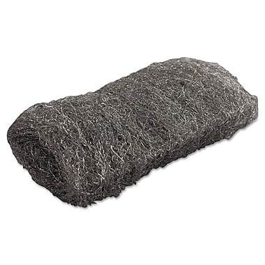 Global Material Medium #1 Steel Wool Hand Pad, Gray