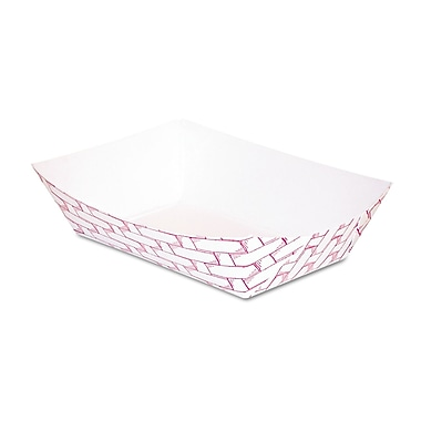 Boardwalk® 4 oz. Paper Food Tray, Red Weave, 1000/Case