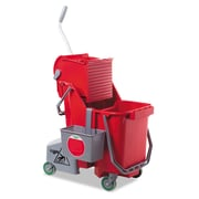Unger CLEANERx UNG COMBR 30 qt. Plastic Dual Bucket, Red