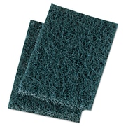 """Premiere Pads 3 1/2"""" x 5"""" Extra Heavy-Duty Scour Pad, Blue/Gray"""