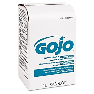 GOJO® 1000 ml Ultra Mild AntiMicrobial Lotion Soap With Chloroxylenol, Amber