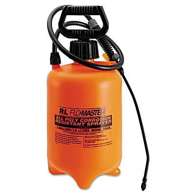 RL Flow-Master Acid- Resistant Sprayer Wand with Nozzle, Orange/Black, 2 gallon