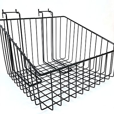 Slanted Slatwall/Gridwall Wire Basket, 12