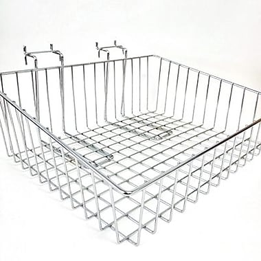 Slanted Slatwall/Gridwall Wire Baskets, 15