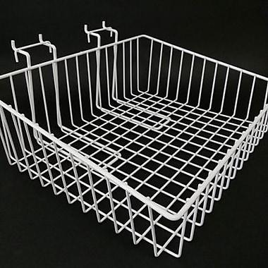 Slanted Slatwall/Gridwall Wire Basket, 15