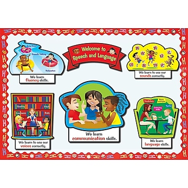 Super Duper® Bulletin Board Set, Welcome to Speech and Language